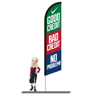 Good Credit Bad Credit Feather Flags 15ft