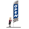 Open Checkered Feather Flags 15ft